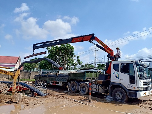 Dịch vụ vận chuyển thép xây dựng