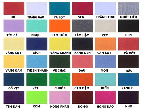 Tôn là sản phẩm đa dạng màu sắc