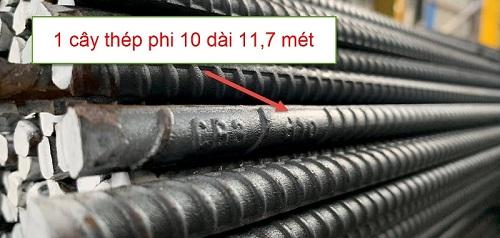 sắt phi 10 dài bao nhiêu mét